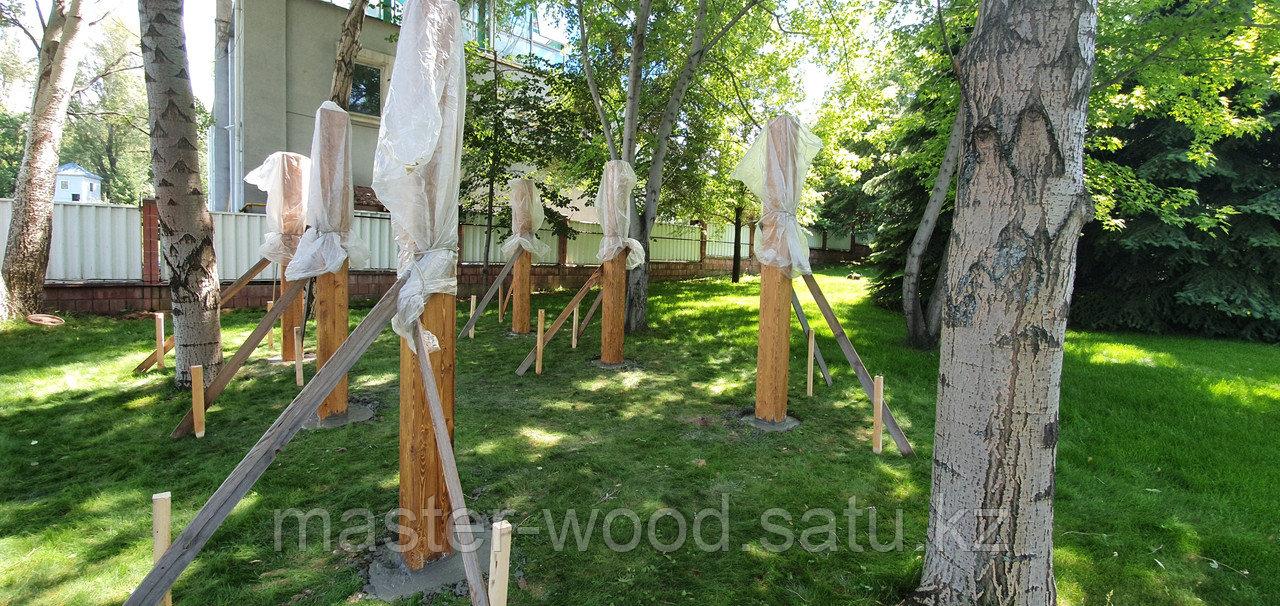 Изготовление деревянных домиков, дом на дереве - фото 9