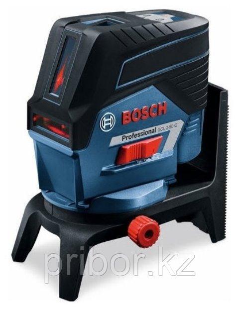 Комбинированный лазерный профессиональный нивелир Bosch GCL 2-50C+RM2+BM3+12V+LBOXX. Внесен в реестр СИ РК