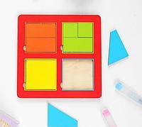 """Игра рамка-вкладыш """"Сложи квадрат"""""""