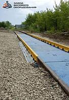 Железнодорожные вагонные весы ВТВ-С для повагонного взвешивания в статике 60 тонн