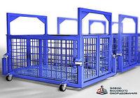 Весы для животных. Весы для КРС с подвесной клеткой на колёсах ВП-С 1000 кг (1 тонна)