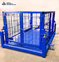 Весы для животных. Весы для КРС с подвесной клеткой на колёсах ВП-С 2000 кг (2 тонны)