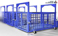 Весы для животных. Весы для КРС с подвесной клеткой на колёсах ВП-С 5000 кг (5 тонн)