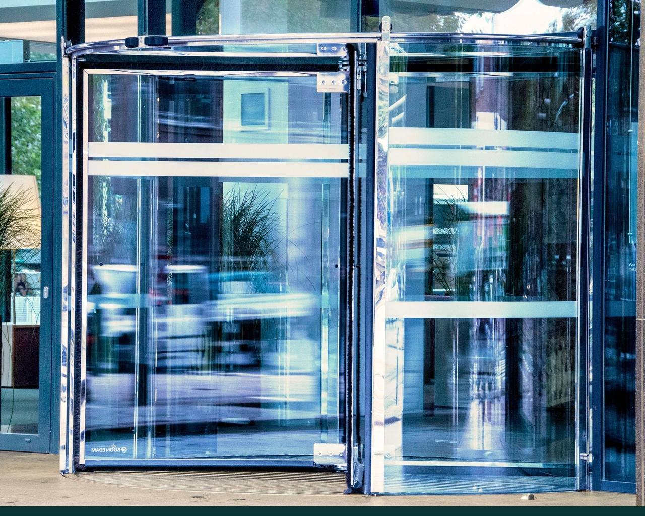 Карусельные (револьверные) двери GEZE Германия - фото 4