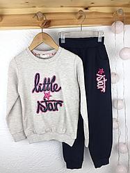 №16061 Костюм для дев. little star беж-син. цв 110-140 см 13922