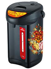 Термопот Добрыня DO487 Хохлома 3,5л,750Вт,нерж,3сп.под.во