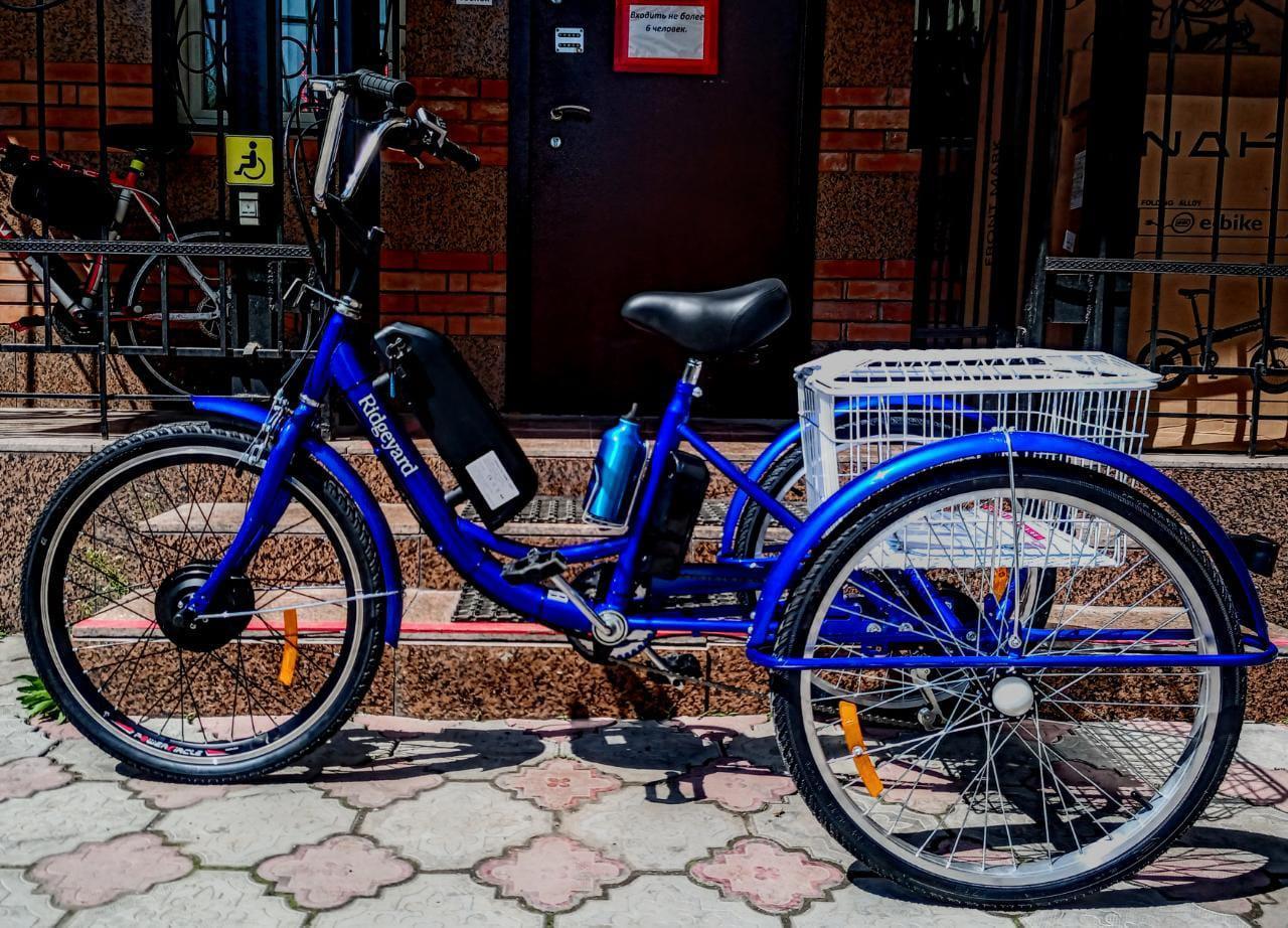 """36v 350w, аккум. Li-ion 36v 15A/H. Электровелосипед трехколесный. Вес 30 Кг. Колеса 24""""."""