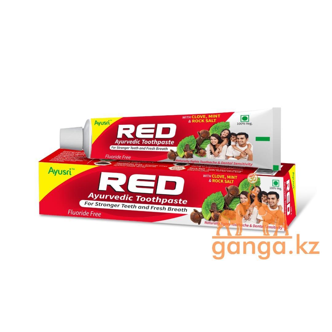 Аюрведическая зубная паста Ред (Red Ayurvedic Toothpaste AYUSRI), 100 грамм