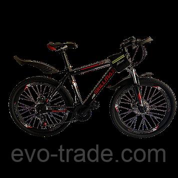 Велосипед Skillmax 26cм красно-черный