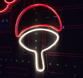 Неоновый светильник Учиха - Наруто