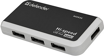 Разветвитель Defender Quadro Infix USB2.0, 4порта HUB