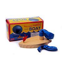 "Деревянная аэролодка с шариком ""Baloon powered boat"""