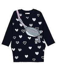 №16052 Платье с нарисованной сумкой 110-140 см 14151