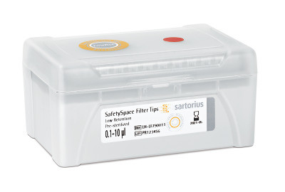 Наконечники SARTORIUS SafetySpace 0.1-10 мкл с фильтром (КАТ № 790011F)