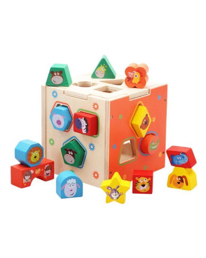 Деревянный сортер-куб