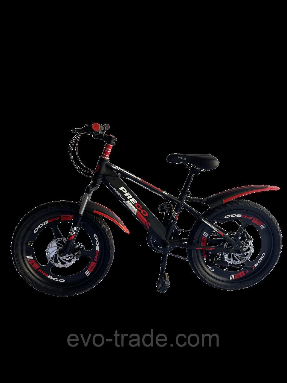Велосипед Prego 20см красно-черный