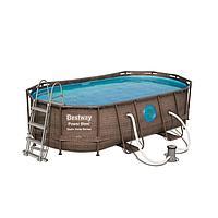 "Каркасный бассейн Bestway 56714 ""Power Steel Swim Vista II"" размер 427 х 250 x 100 см, фото 1"