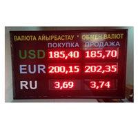 Световое табло курсы валют на 3 валюты, модуль Р10