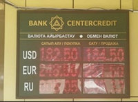 Световое табло курсы валют на 3 валюты, модуль Р10. Две цифры после запятой