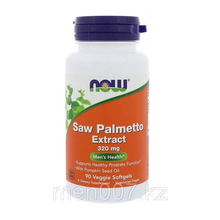 БАД Now Foods, экстракт серенои, мужское здоровье, 320 мг, 90 растительных капсул