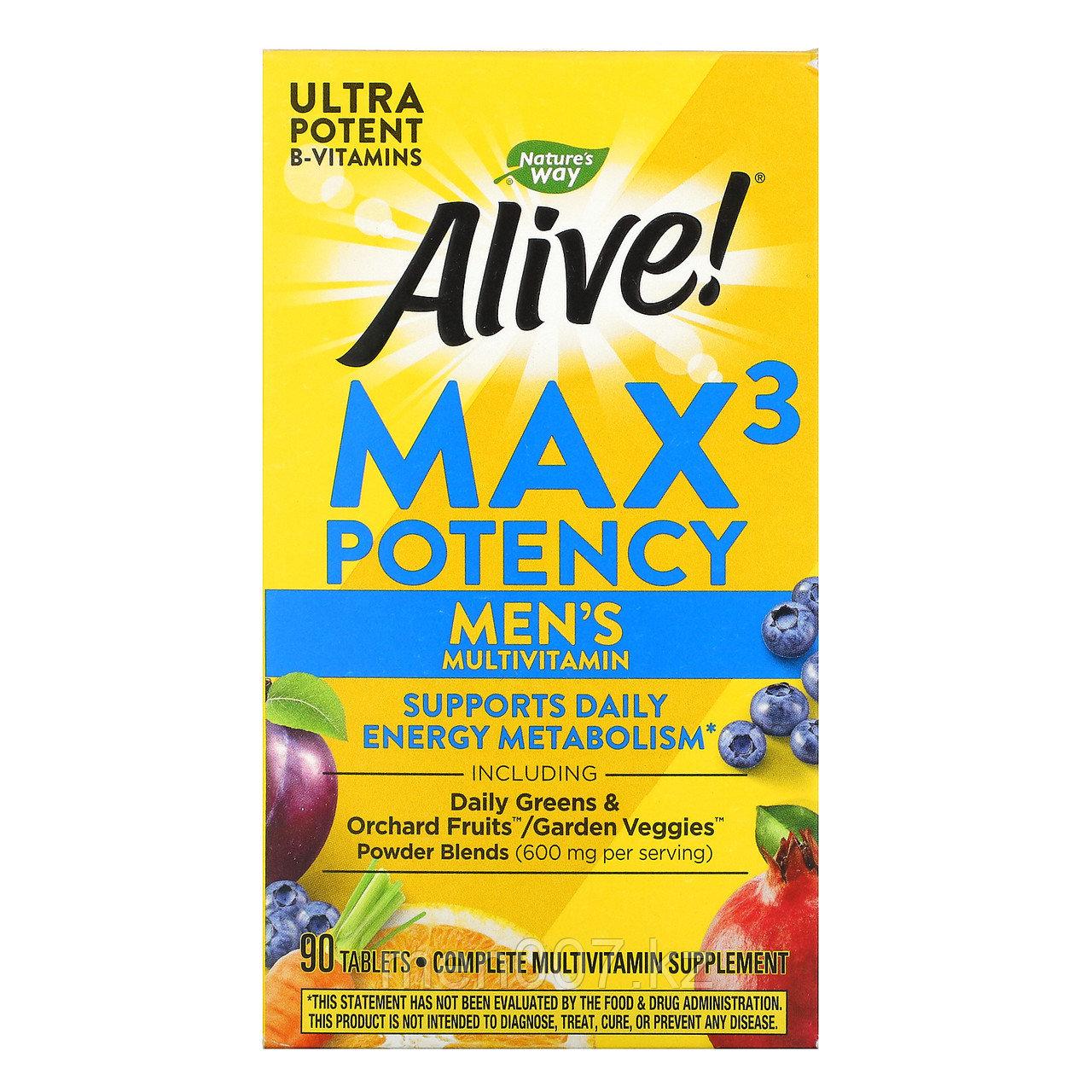 Nature's way Мультивитамины для мужчин Максимальная Эффективность Alive Max Potency США (90 таблеток)