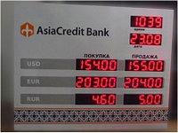 Световое табло курсы валют на 3 валюты, модуль Р10. С временем и датой