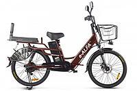 Велогибрид Green City E-Alfa Lux (Коричневый)