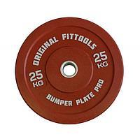 Диск олимпийский бамперный Original FitTools цветной (1,25 кг), фото 1