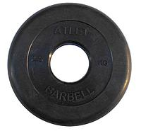 Диски обрезиненные, 51 мм Atlet 2,5кг (Д-26-31-50-мм)