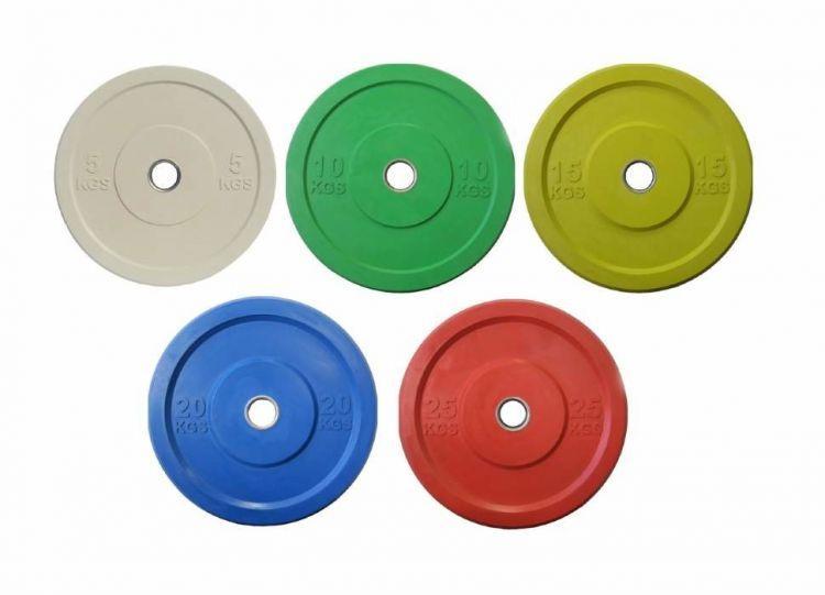 Диск олимпийский бамперный Johns Apolo Bumper цветной (5 кг)