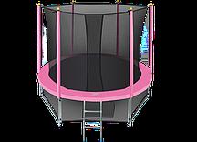 Батут Hasttings Classic Pink 8ft (2,44 м) с защитной сетью и лестницей