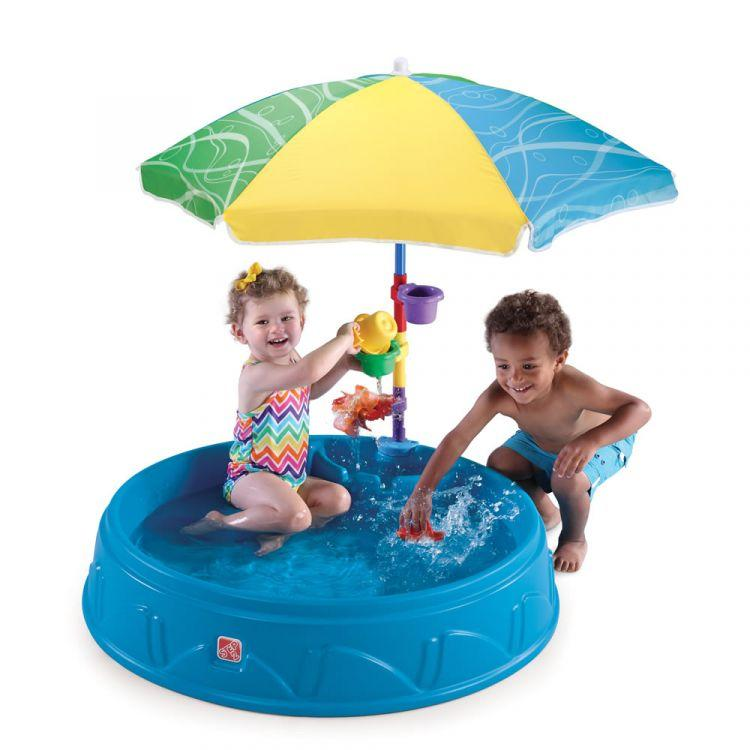 Бассейн для малышей с зонтиком Step2 716000