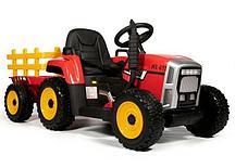 Трактор с прицепом Barty TR 77 (Красный)