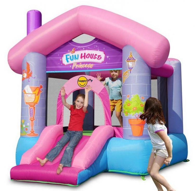 Надувной батут Happy Hop 9215Р (Забавный дом для принцессы)