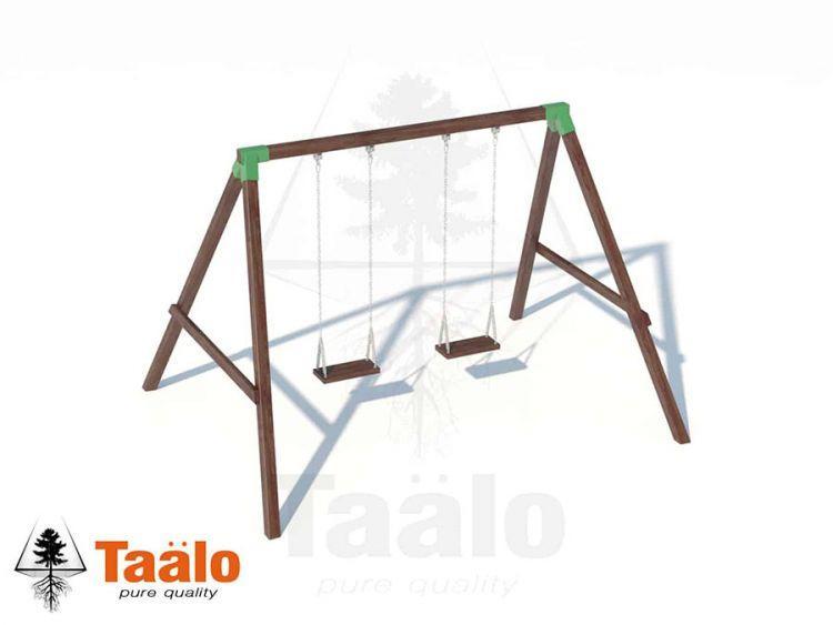 Качели деревянные с сидениями на цепях Taalo