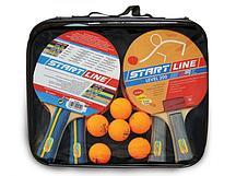 Набор START LINE 4 Ракетки Level 200, 6 Мячей Club Select 61-453-1