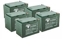 Комплект тяговых гелевых аккумуляторов RuTrike 6-DZM-24 (60V24A/H C2)