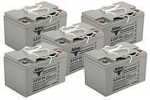 Комплект тяговых гелевых аккумуляторов RuTrike 6-EVF-60 (12V60A/H C3)