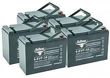 Комплект тяговых гелевых аккумуляторов RuTrike 6-EVF-38 (60V38A/H C3)