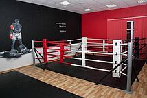 Ринг боксерский Харламов-Спорт напольный на упорах (размер в ассортименте) (4х4 (монтажная зона 5х5 м))