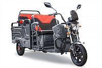 Грузовой электрический трицикл Rutrike Вояж-П 1200 Трансформер 60V800W (Темно-серый)