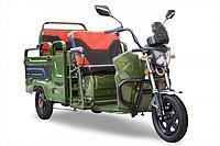 Грузовой электрический трицикл Rutrike Вояж-П 1200 Трансформер 60V800W (Зеленый)