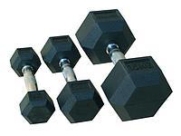 Гантель гексагональная Johns 72014 от 12,5 кг до 50 кг (поштучно) (42,5 кг)