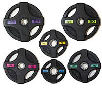 Диск олимпийский Original FitTools черный обрезиненный (15 кг)