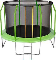 Батут с сектой и лестницей Jumpy Premium 8ft (240 см) (Зеленый)