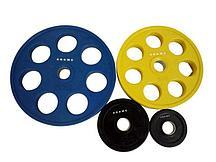 Диск олимпийский Grome WP013 черный-цветной обрезиненный (1,25 кг)