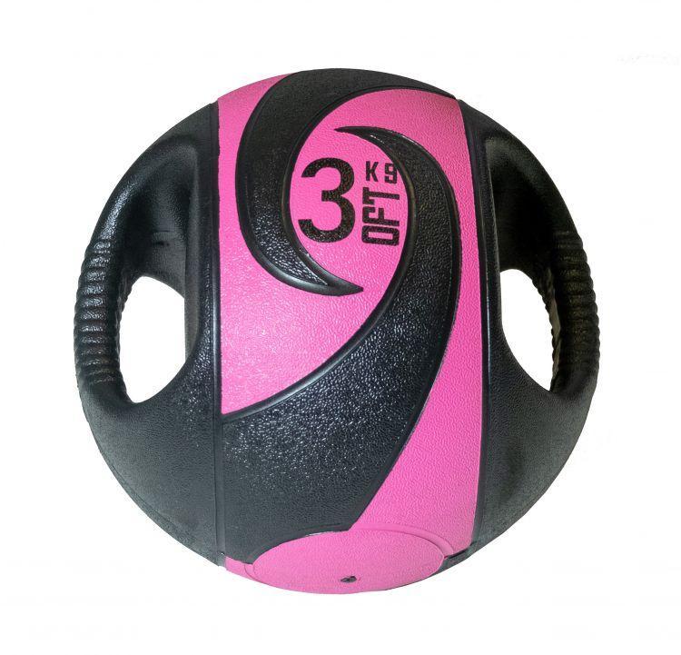 Мяч тренировочный (медицинбол) с хватами от 3 до 10 кг (10 кг)