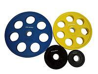Диск олимпийский Grome WP013 черный-цветной обрезиненный (5 кг)