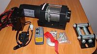 Лебедка универсальная электрическая на фаркоп, нагрузка 1588кг / EW3500A