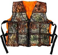 Жилет страховочный СИЕСТА, размер 54-64, двухсторонний / оранж-камуфляж